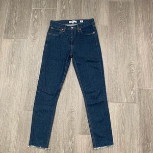 NWOT Re/Done Originals Straight Skinny Jeans 24